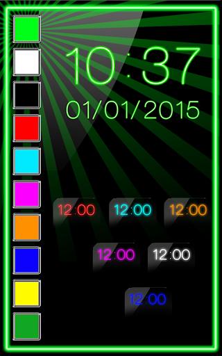 ネオン デジタル時計