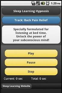 Sleep Hypnosis - Back Pain