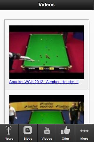 The Snooker App - screenshot