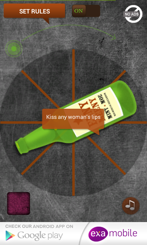 Steal a kiss - Spin the Bottle - screenshot