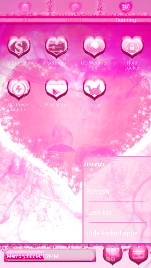 Smokin HOT PINK GO Launcher EX - screenshot
