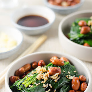 Chinese Spinach and Peanut Salad.