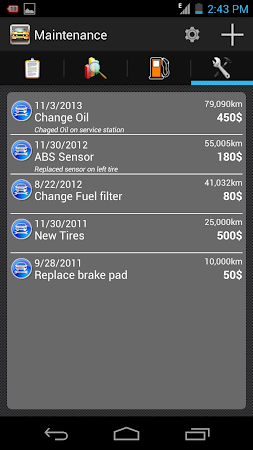 My Fuel Tracker 1.6 screenshot 2015362