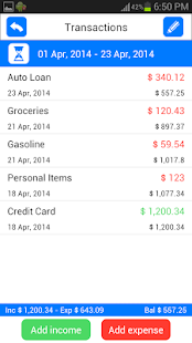 Money Log Free Budget Manager- screenshot thumbnail