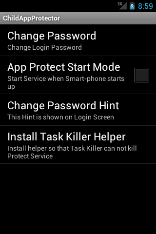 Child App Protector - screenshot