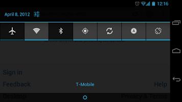Screenshot of TogglePanel
