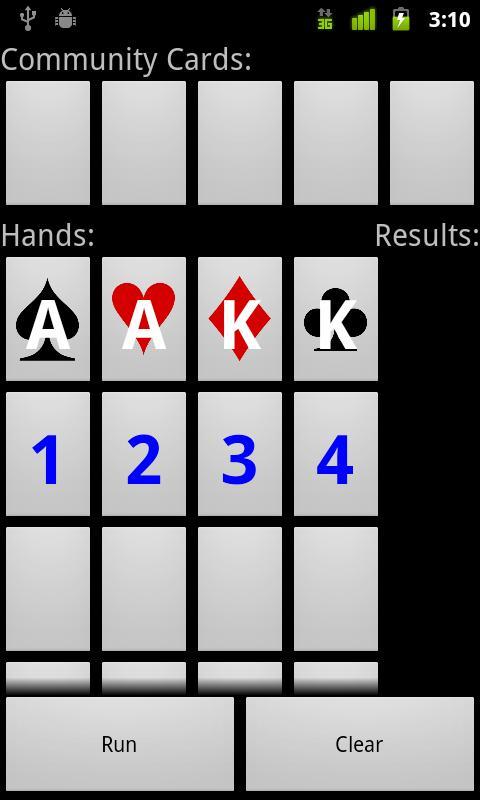 Poker scenario odds