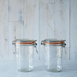 Le Parfait 35 Ounce Bail Closure Canning Jar (Set of 2)