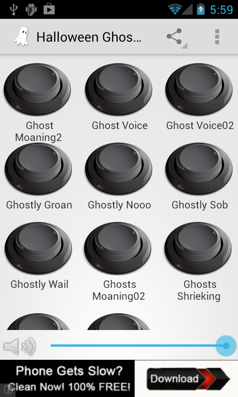 halloween ghost sounds screenshot - Free Halloween Sounds Downloads