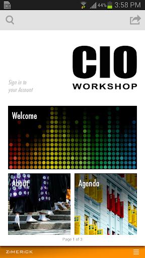 CIO Workshop