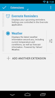 Screenshot of Evernote Dashclock Extension