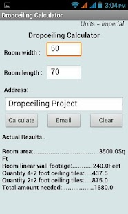 DropCeiling Calculator - screenshot thumbnail