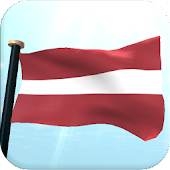 Latvia Flag 3D Live Wallpaper