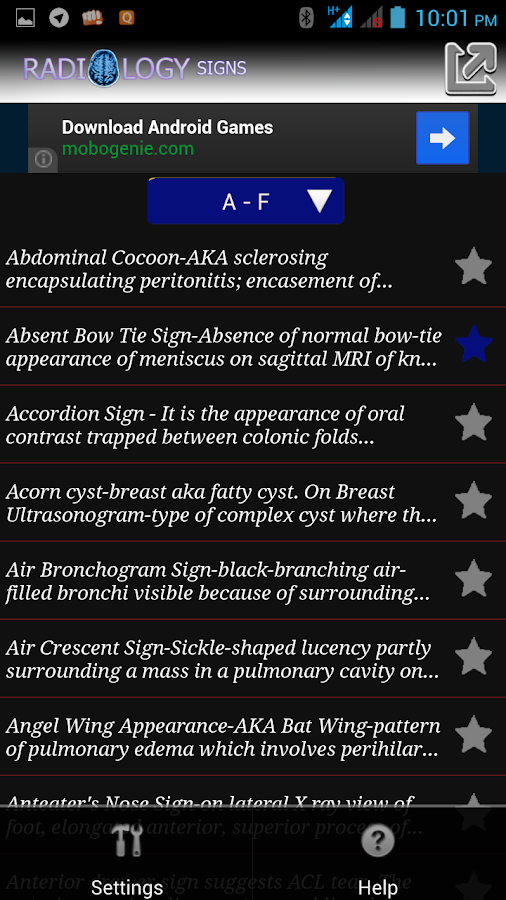 Radiology Signs- screenshot