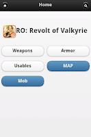 Screenshot of RO Revolt Of Valkyrie Database