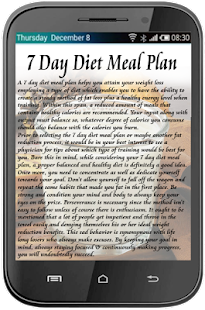 7 Day Diet Meal Plan