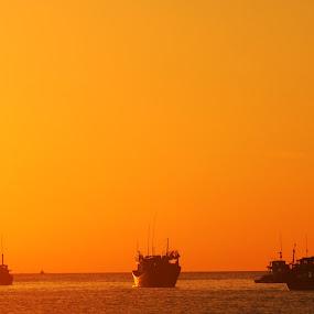Yellow Sunrise by Nguyen Kien - Landscapes Sunsets & Sunrises