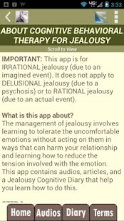 Jealousy Test & CBT Self-Help- screenshot thumbnail