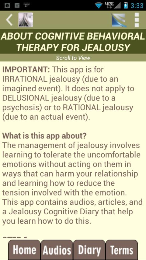 Jealousy Test & CBT Self-Help- screenshot