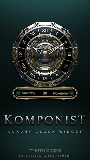 KOMPONIST Luxury Clock Widget