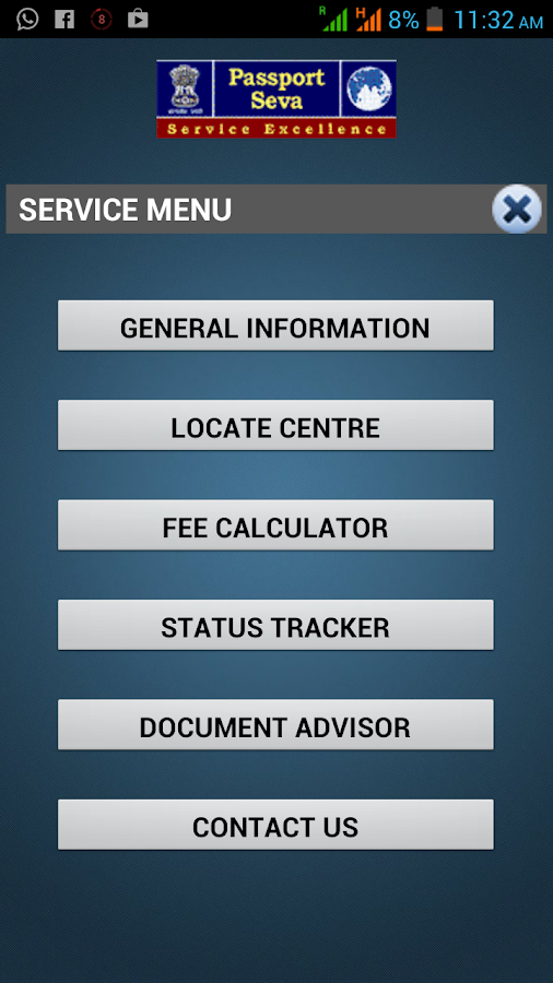 mPassport Seva - screenshot