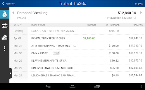 Tru2Go Truliant Mobile Banking - screenshot thumbnail