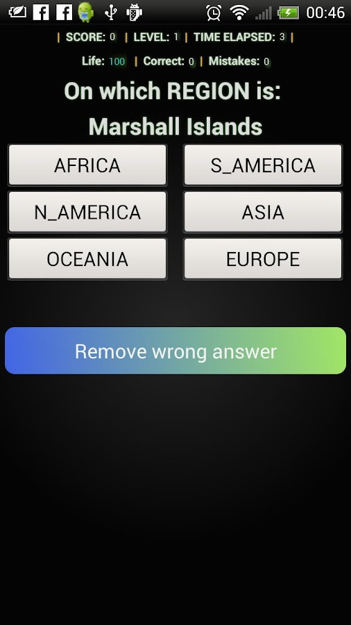 country capital flag quiz game- screenshot
