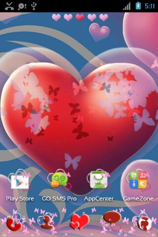 Theme Hearts for GO Launcher- screenshot