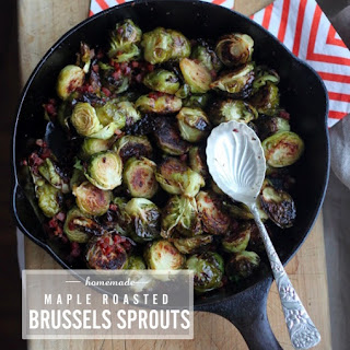 Maple Roasted Brussels Sprouts Recipe