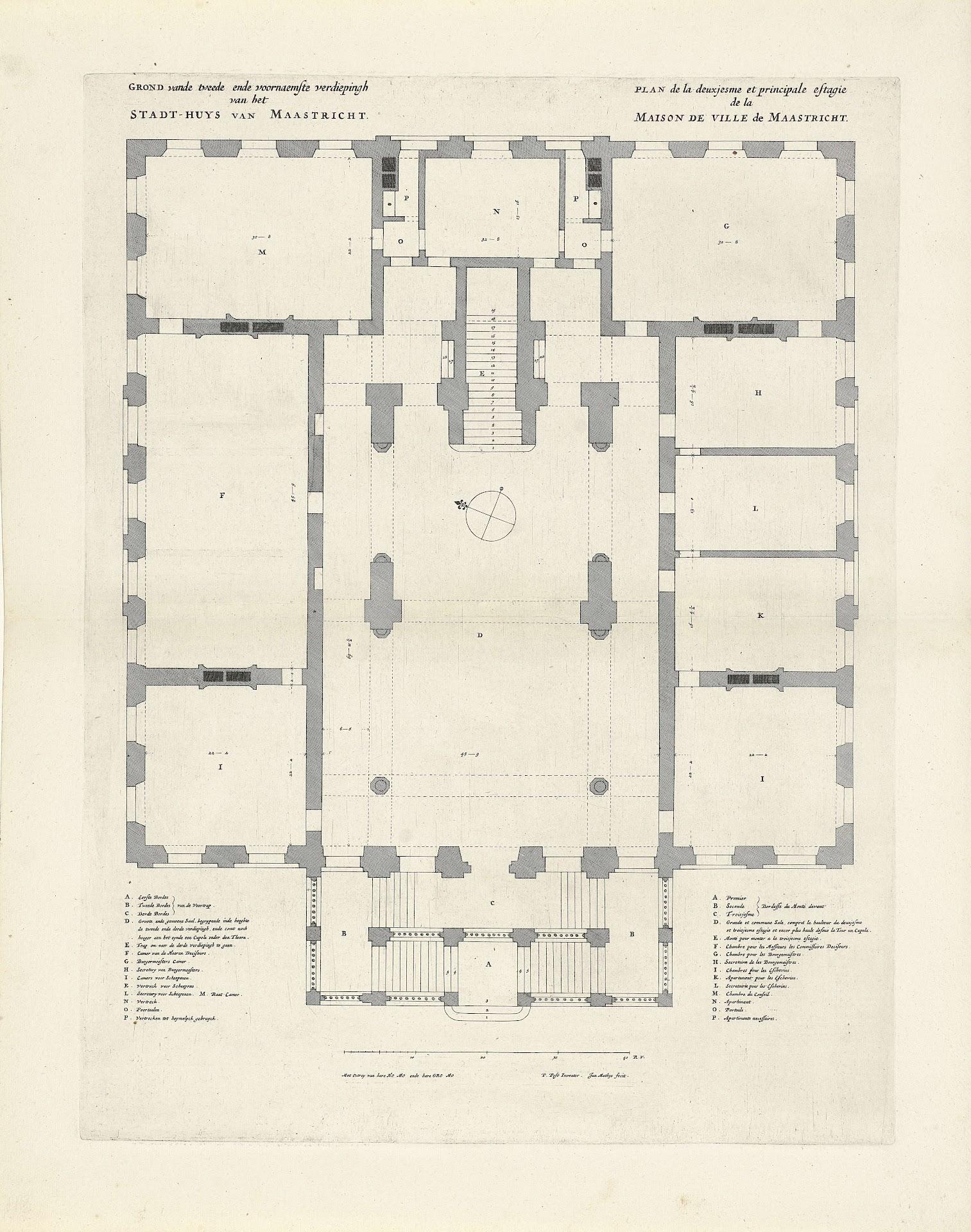 Plattegrond Van Het Rijksmuseum.Plattegrond Van De Tweede Verdieping Van Het Stadhuis Van