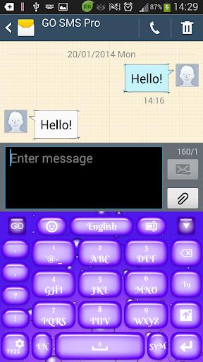 【免費個人化App】紫色的键盘-APP點子