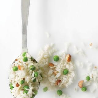 Rice Pilaf with Peas and Almonds Recipe