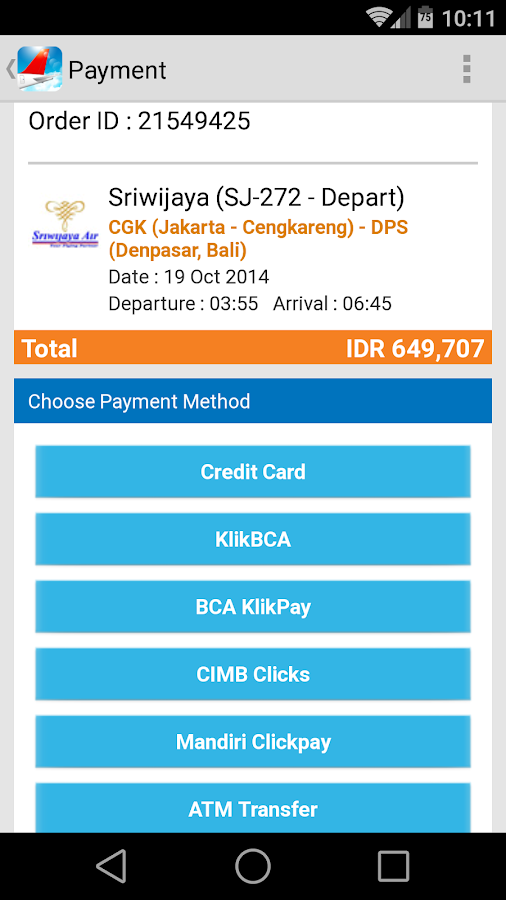 Indonesia Flight - Tiket - screenshot