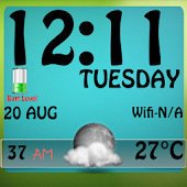 Weather Clock Live Wallpaper