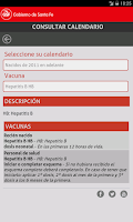 Screenshot of Calendario de Vacunación