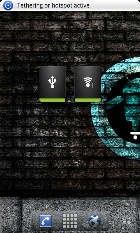 Tethering Widget - screenshot