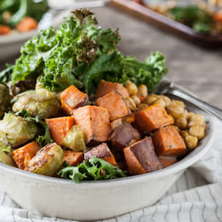 Autumn Nourish Bowls with Brussels Sprouts + Sweet Potatoes