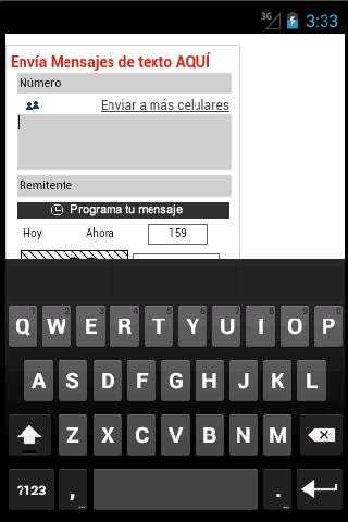 enviar sms desde colombia: