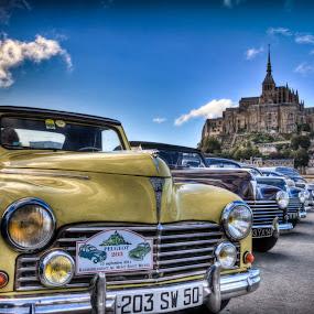 Mont St. Michel Auto Show by Steve Densley - Transportation Automobiles ( car, hdr, automobile, cars, france, peugeot,  )