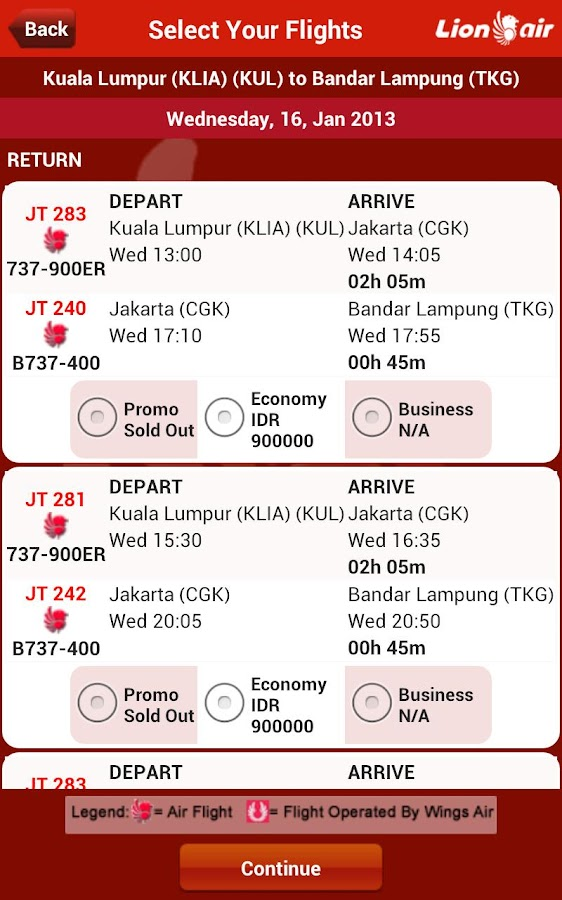LionAir - screenshot