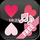 [Free] Сердце Flow! LWP Clock! icon
