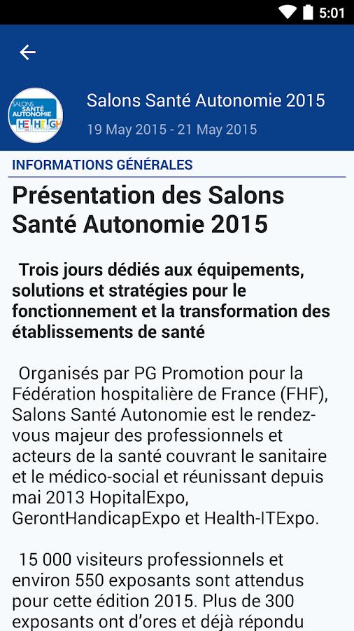 Salons sant autonomie android apps on google play - Salon sante autonomie ...