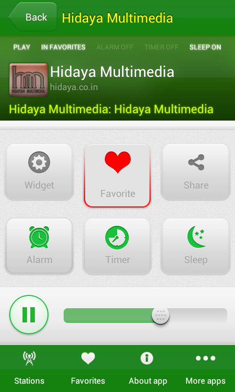 Islamic radios - screenshot