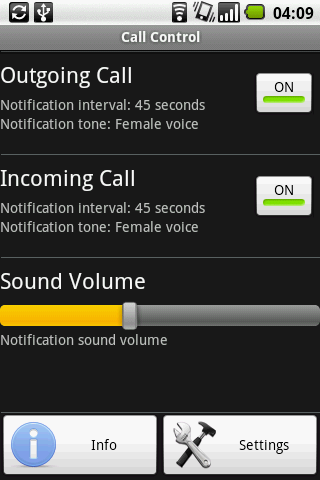 Call Control- screenshot