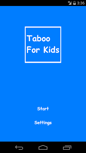 Taboo For Kids
