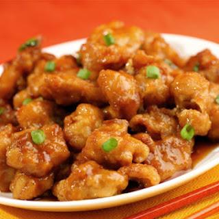 Crispy Sticky Sweet Orange Chicken.