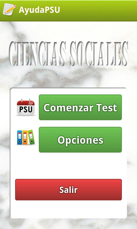 Ayuda PSU Ciencias Sociales - screenshot