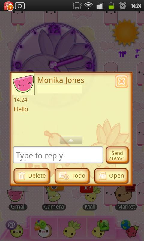 Cutie Tutti Go SMS Pro - screenshot