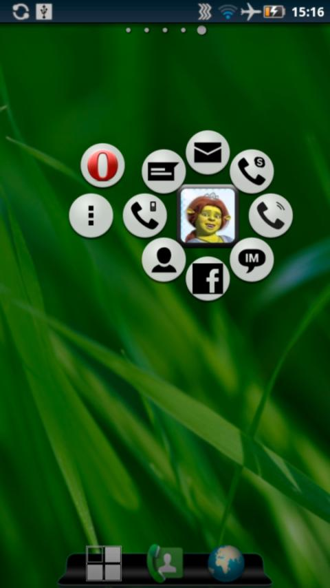 Animated Widget Contact Pro - screenshot