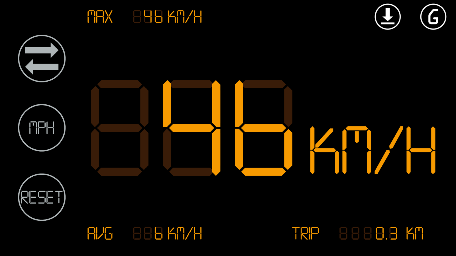 Simple Speedometer HUD2- screenshot